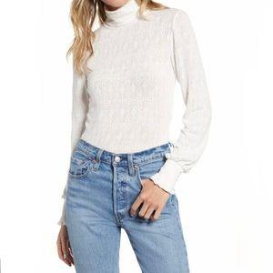 Ten Sixty Sherman Pointelle Mock Neck Sweater